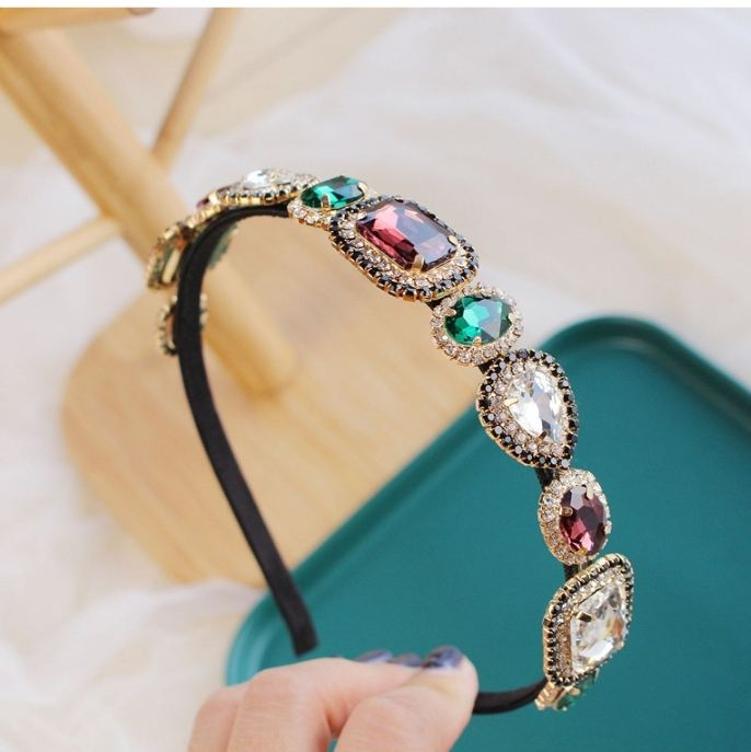 New fashion multicolor rhinestone hair bands DIA shiny crystal Baroque hair bands hair accessories