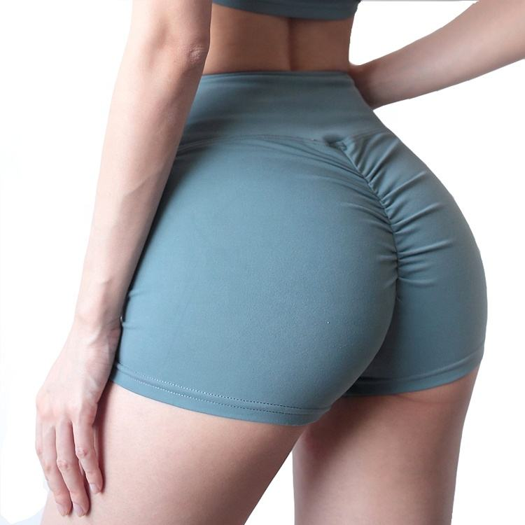 2020 Women Workout Yoga Shorts High Waist Booty Push Up Gym Shorts Scrunch Ruched Butt Lifting Sports Short Pants