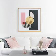 Square Shape Gallery Wall Artwork High Quality Aluminium Material Frame Print Wall Decoration