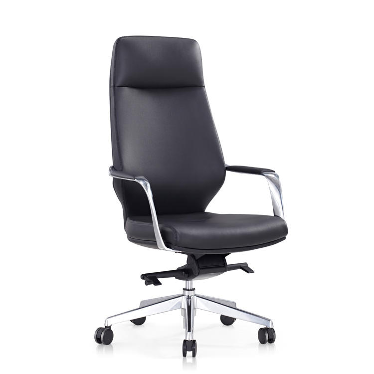 office furniture china modern pu black leather high back swivel executive boss ceo chairs wholesale