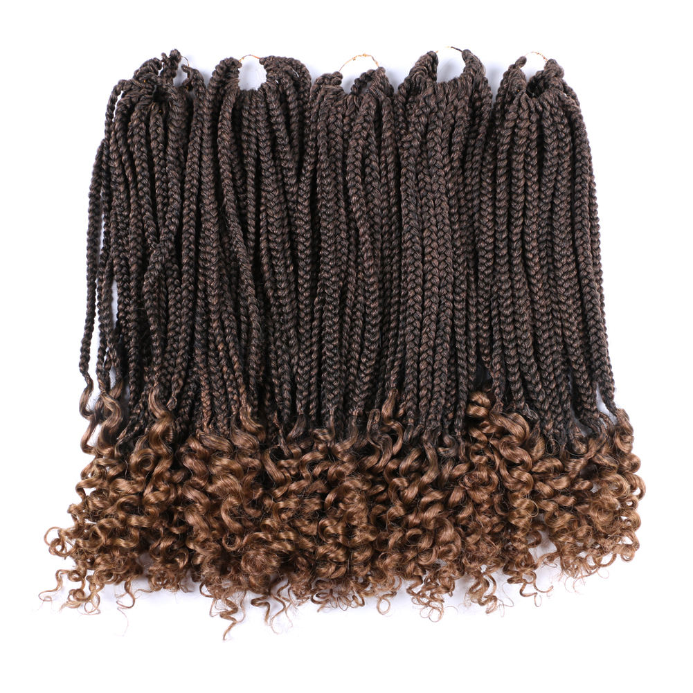 Goddess Curly Pre Knotted Micro Crotchet Accessories Color Jumbo Hair Extension for Crochet Box Braids