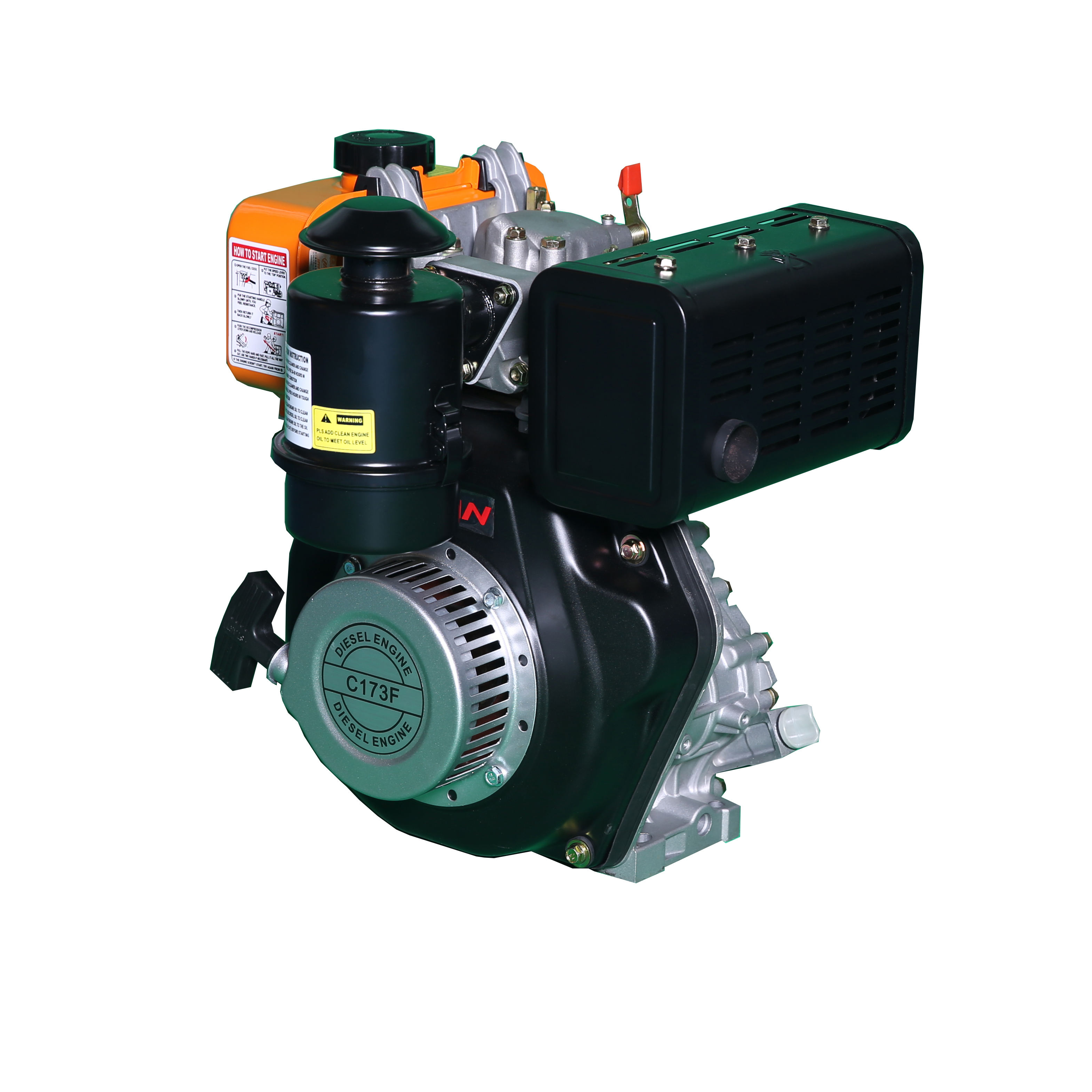 Monocylindre 5hp <span class=keywords><strong>Moteur</strong></span> Diesel Refroidi Par Air