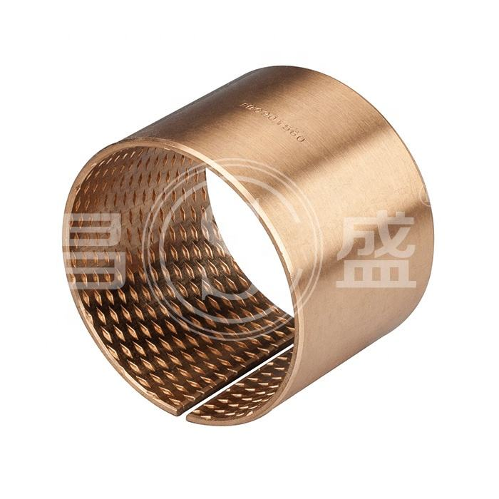 FB090 CuSn8P0.3 Bronze Bearing CuSn6.5P0.1 Wrapped Bronze Bushing Oilless Sliding Sleeve Bronze Bearing HB120 Bush