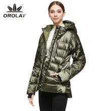 Custom Logo Black Jacket Women Loose Short Shiny Duck Down Coat