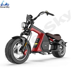 SoverSky 3000 Watts Electric Motorcycle 60V 30Ah Lithium Battery chopper Citycoco Scooter Max Speed 50MPH US Warehouse M8