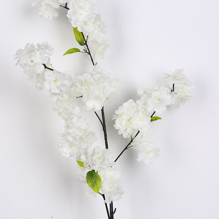 Beste Plastic 95 Cm Wit Kunstmatige Cherry Blossom Bloem In De Outdoor Of Indoor