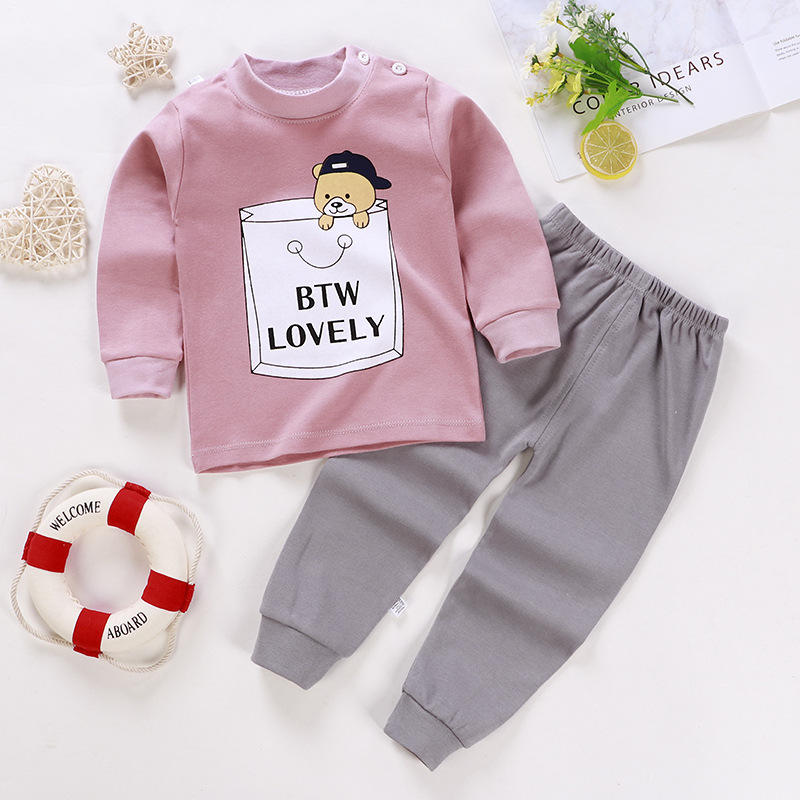 2020autumn 100%cotton comfortable toddler clothing baby clothing sets