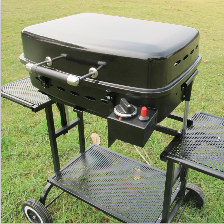 BBQ Stand Gas Grill Model No.RRV-07A Arrival Non Stick Coating Aluminum New Multi function 2 in 1 Black Kitchen Metal Hot Style