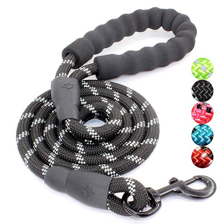 Hot sale custom strong rope dog harness leash waterproof nylon material retractable dog leash for dog