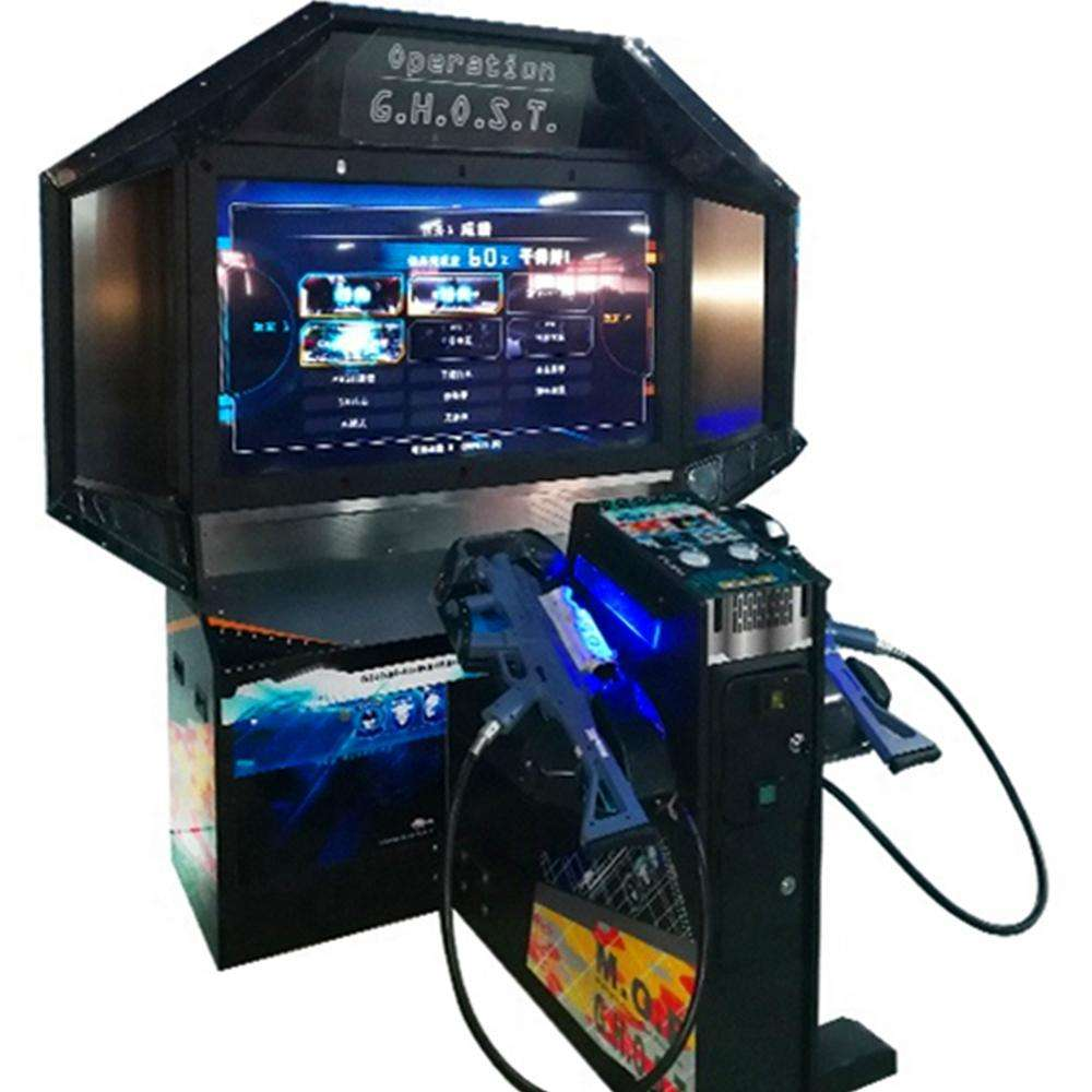 Indoor Muntautomaat Game Bediening Ghost Video <span class=keywords><strong>Schieten</strong></span> Arcade Game Machine Gun Shooting Simulator Games