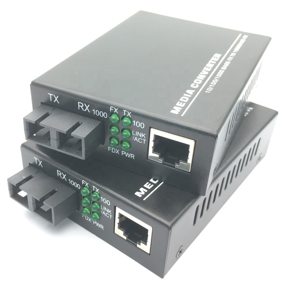 Dual Optik Media Converter 10/100/1000M CCTV <span class=keywords><strong>CATV</strong></span> 550M 2/20/40/60/80/100/120KM Gigabit Duplex <span class=keywords><strong>Ethernet</strong></span> RJ45 Transceiver