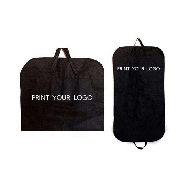 custom logo print eco-friendly non woven fabric foldable wedding dress mens suit garment bag