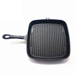 Factory Supply Hot Sale Vegetable Oil Coating Cast Iron BBQ Cookware Griddle Fry Pan