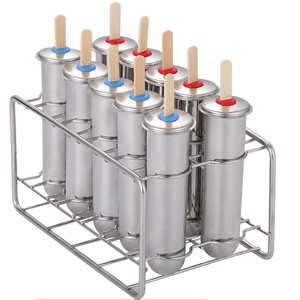 Stainless Steel Cetakan 10 Pcs Stainless Steel Ice Lolly Cetakan Es Loli Kit