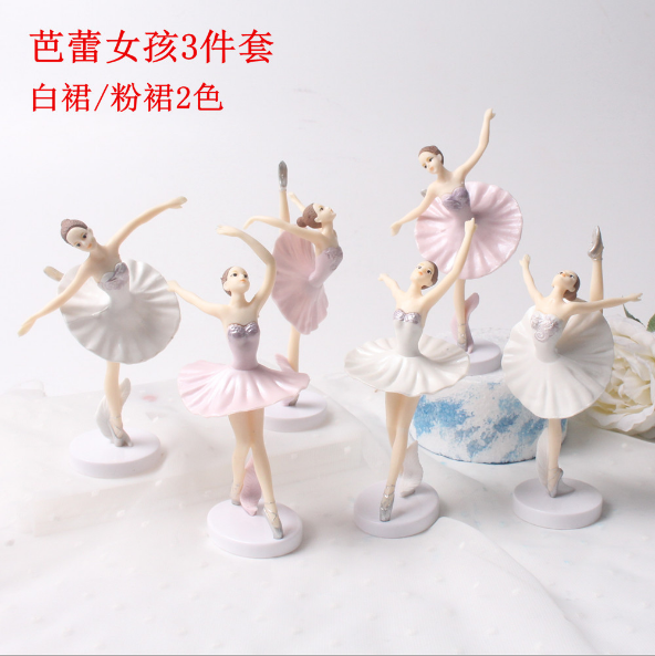 (New) Wholesale Good Quality 3pcs Mini Action Figure Dancing Girls PVC Figures Beautiful Ballet Girl Toys for Gifts