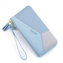 2020 tan casual long fashion style female leather wallet for customize