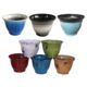 Wholesale Hot Sell Colorful Round Outdoor Garden Decorative Plastic Plant Pots