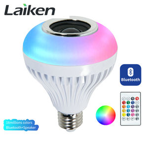 Bluetooth RGB LED Lighting Play Music Wireless Bulb E26 E27 B22 for Home Hotel Restaurant