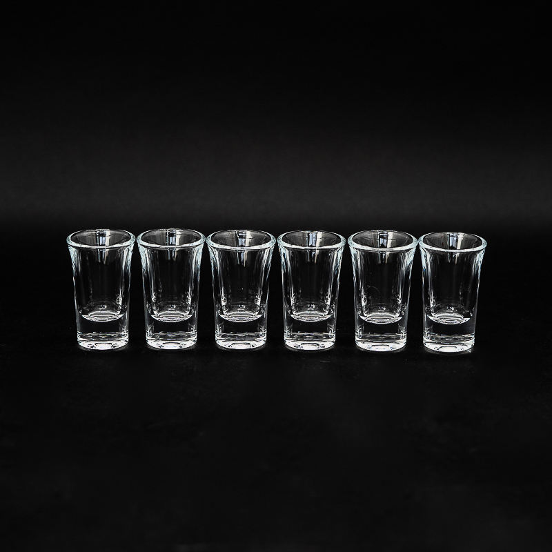 1.3 oz Shot Glasses Sets with Heavy Base Clear Shot Glass