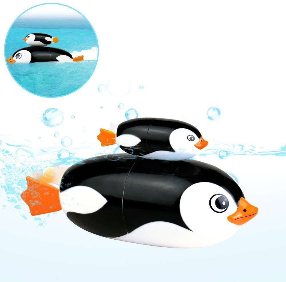 Bath Toys New Electric Penguin Bathtub Tub Toys Swimming Pool Water Bathtime Gift for Kids Bath Toys