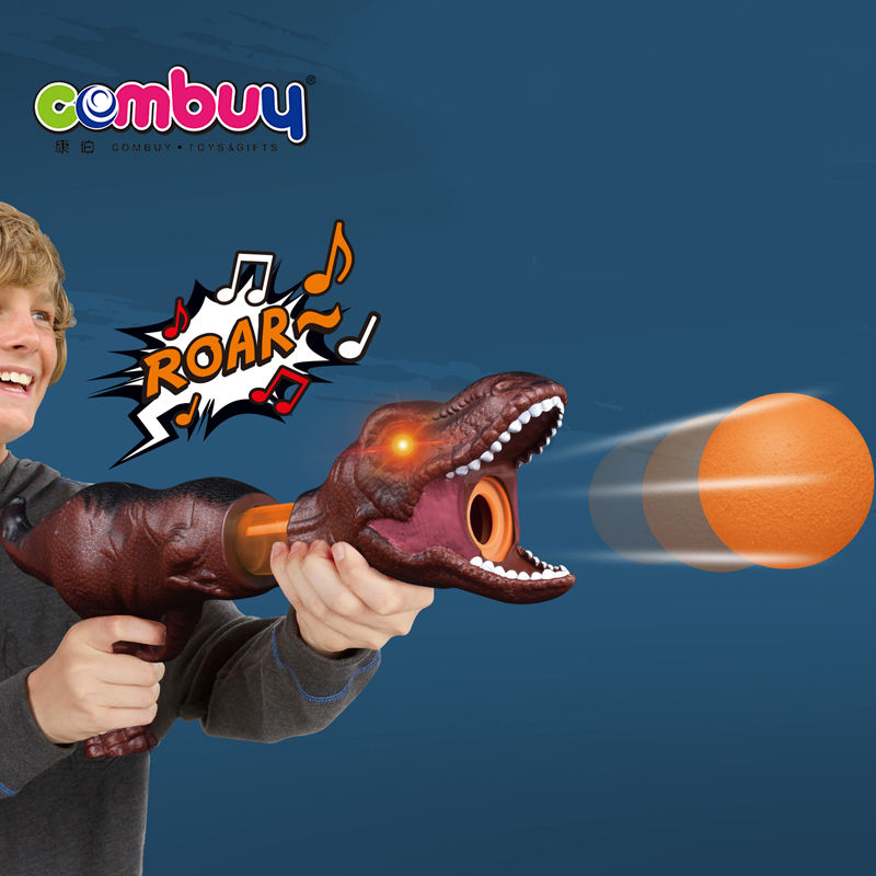 Dinosaur light sounds shooting game soft ball toy air gun