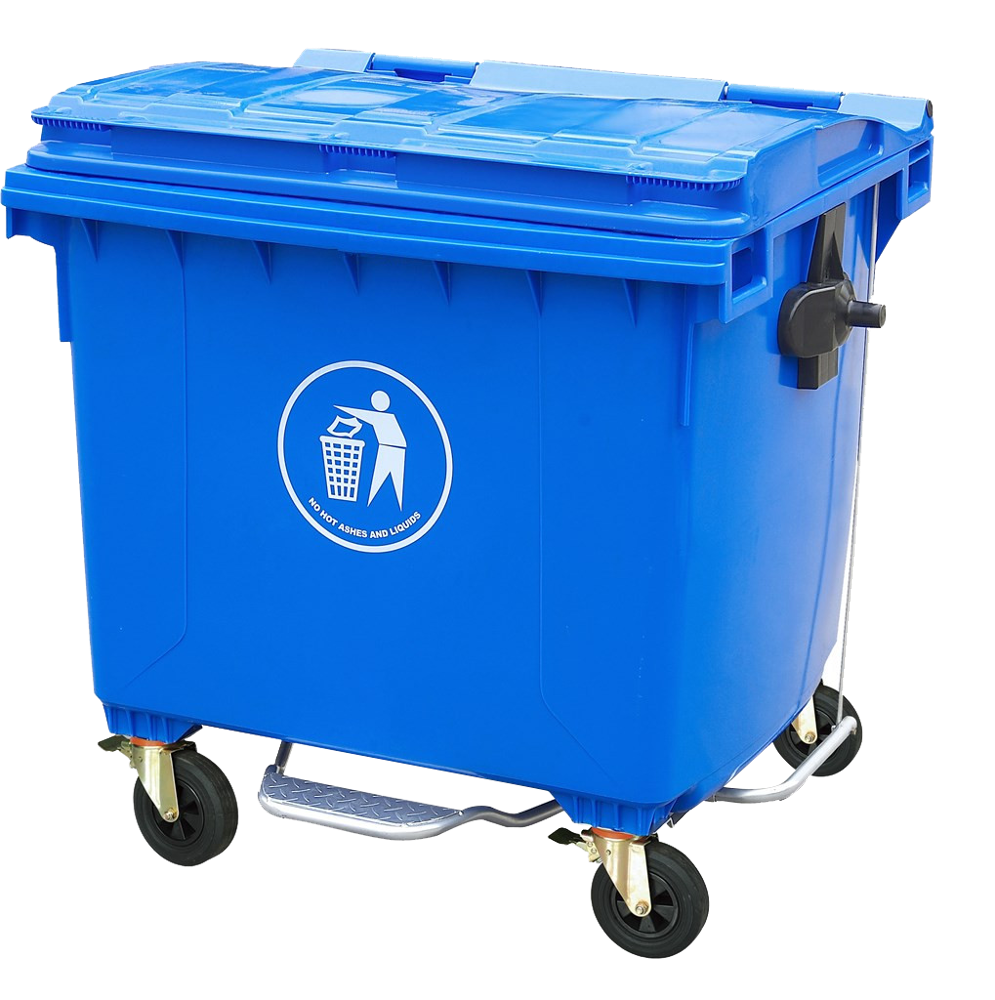HongKong Using HDPE Outdoor plastic dustbin with wheels 660L