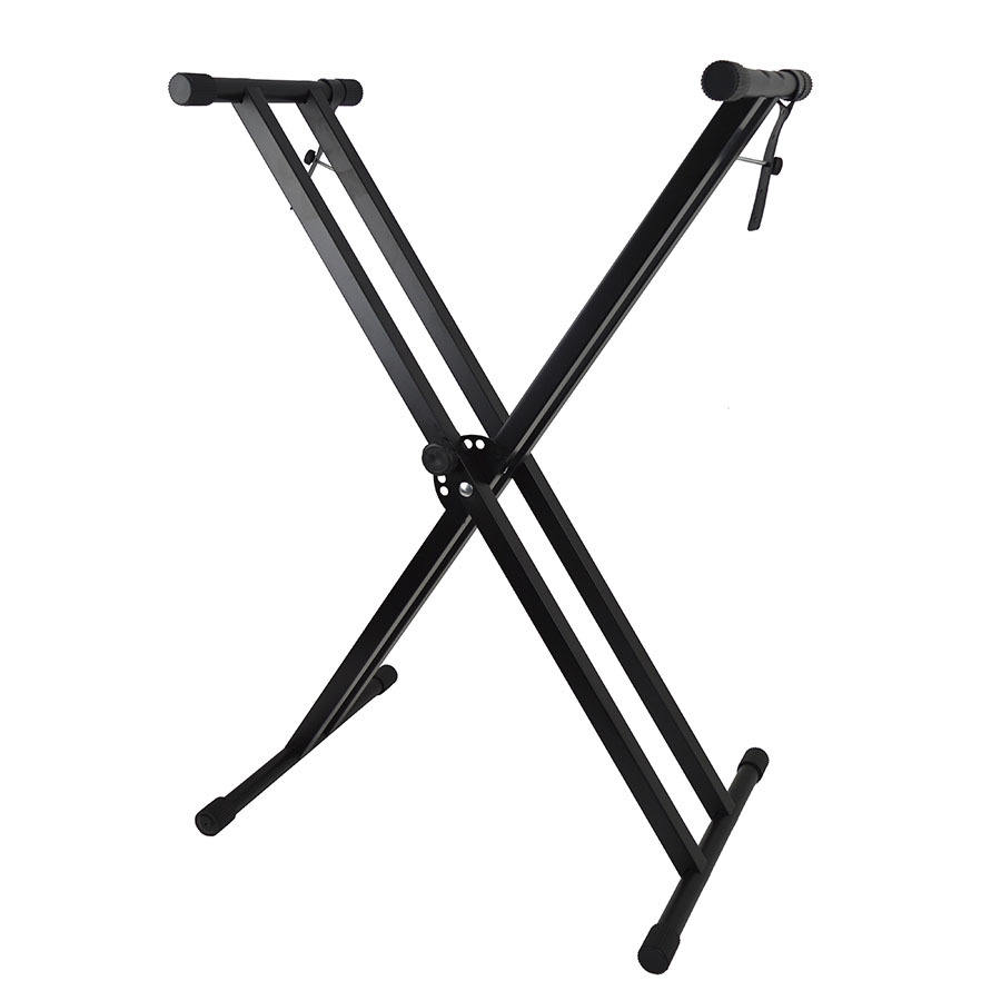 Factory direct sale double X frame piano keyboard stand
