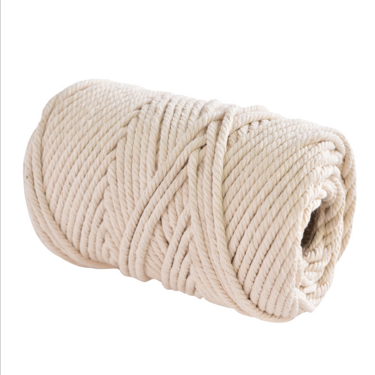 Factory wholesale durable white braided cotton rope