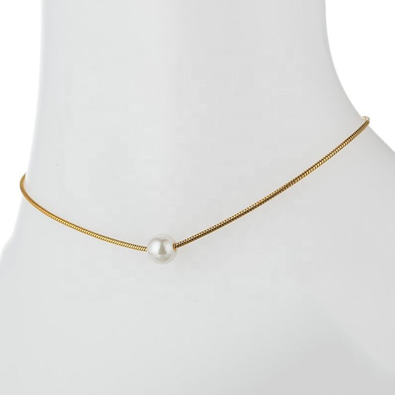 Unique Nice Gold Plated Chain Pearl Anklet