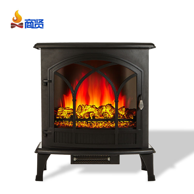 "20"" with 3D flame modern wood burning stove electric fireplace"