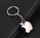 Silver Apple Keychain Fruit Metal Charm Pendant Blank Key Chain For Laser Logo