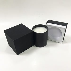 Custom wholesale black candle boxes packing paper rigid box packaging