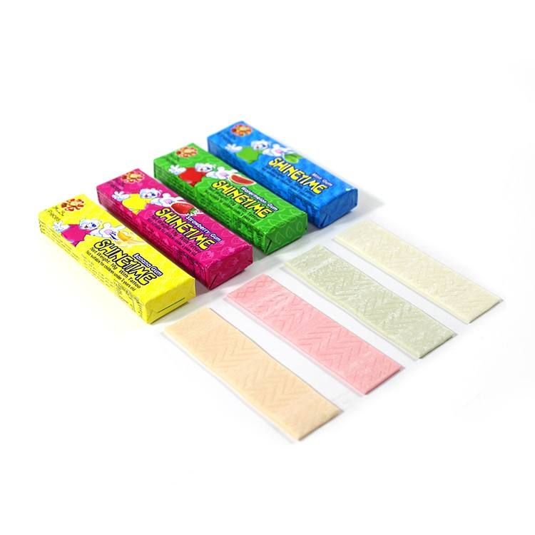 customized 5 pcs stick chewing gum with tattoo