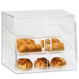 3 Tier Tabletop Acrylic Bakery Cake Display Case