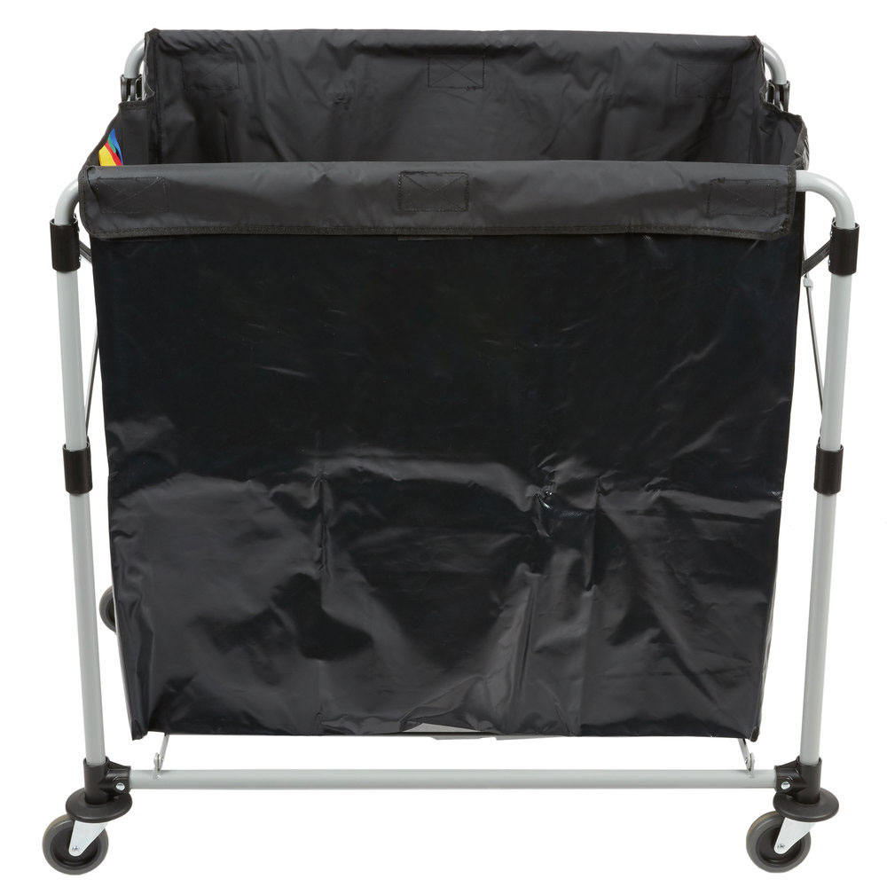 8 bushel X-Frame collapsible Laundry Trolley Folding Cart for Cloth Carrying for Sale