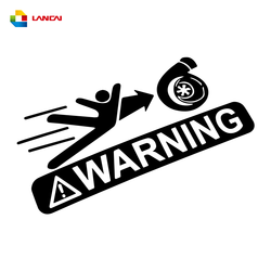 Car Warning Sign Sticker Cool Graphics Sticker Motorcycle SUVs Bumper Vinyl Decals