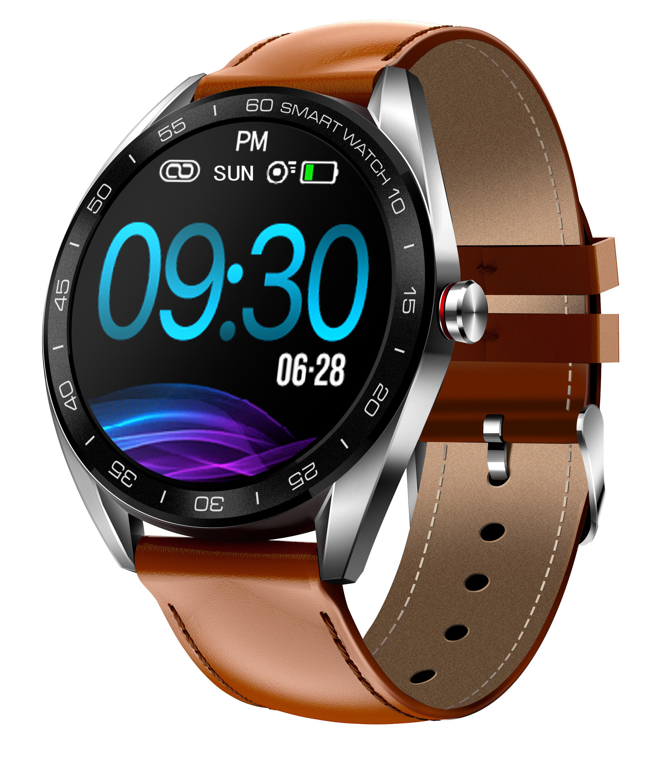 OEM waterproof GPS IPS 1.3inch Round screen BLE 4.0 Smart Watch K7 for Android 4.4 and above iOS 8.0 and above