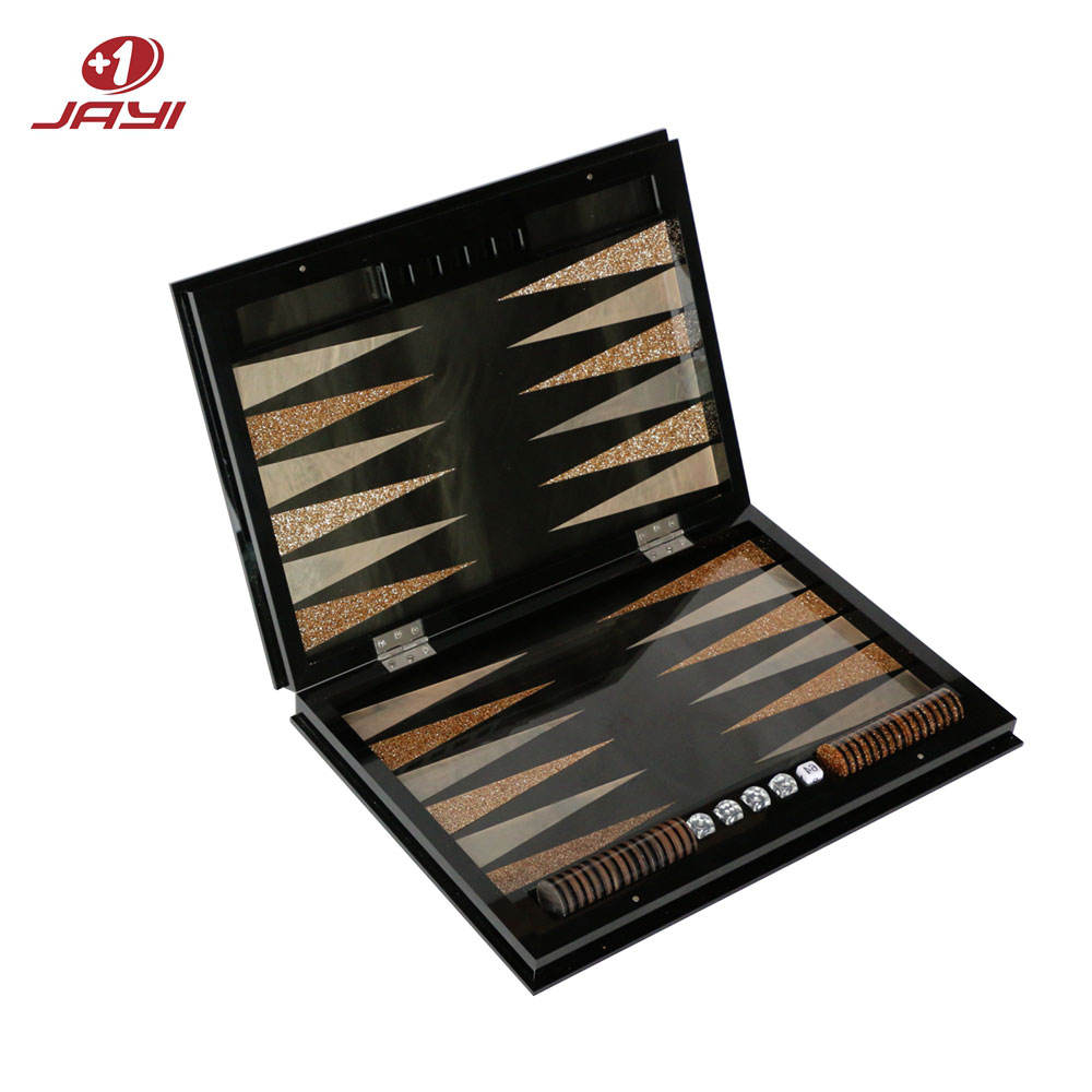 JAYI factory custom acrylic material indoor table games leisure backgammon