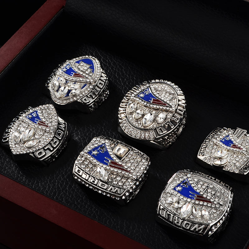 New England Patriots 2019 Championship Ring Official Football Collectible Gift Champion Rings with Display