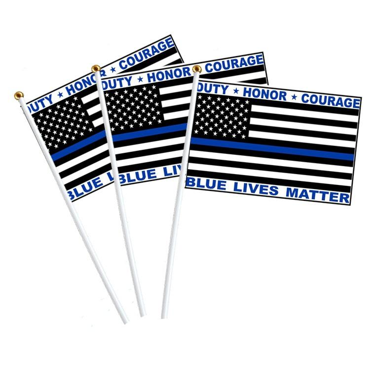 3X5 Usa Politie Dunne Blauwe Lijn Duty Honor Moed Blauw Leven Kwestie 100D <span class=keywords><strong>Vlag</strong></span>