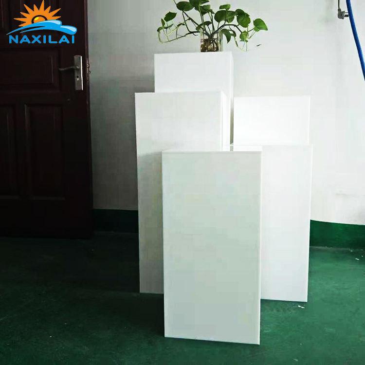 NAXILAI los zócalos exhiben el soporte de acrílico de la boda puesto de flores de acrílico