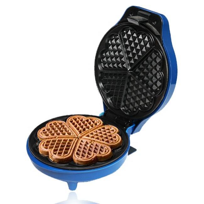 <span class=keywords><strong>Casa</strong></span> de Mini corazón FORMA DE Waffle Maker personalizado con desayuno, almuerzo, 7 en 1 portátiles huevo Waffle Maker