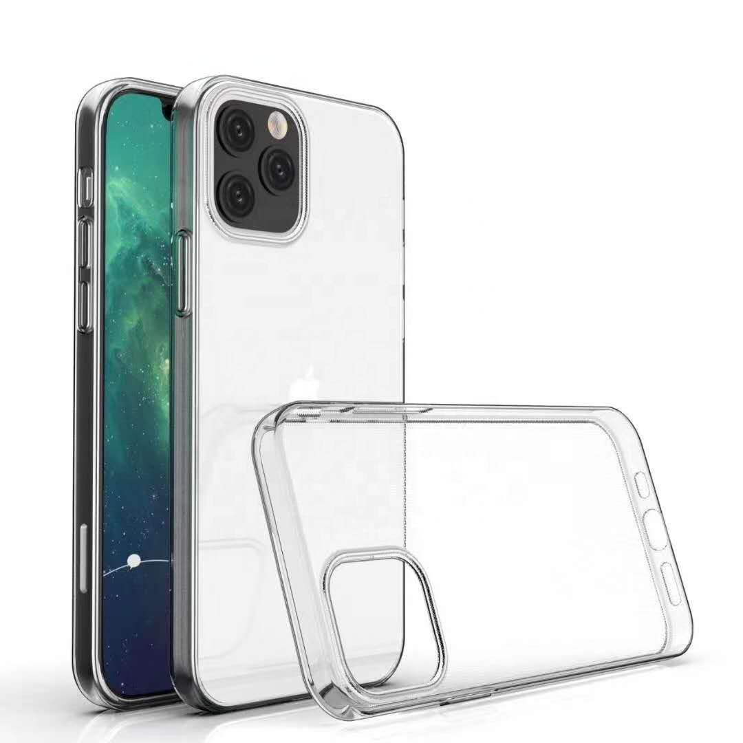 Soft TPU Back Cover For iPhone 12 Case Clear Transparent TPU Phone Case For iPhone 11 Case 2019 mobile phone 12 Pro Max 2020