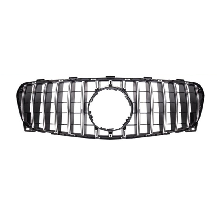 Car Hood Grille For Mercedes Benz GLA X156 2017 2018 Upgrade GT Mesh Grille Front Bumper Grille