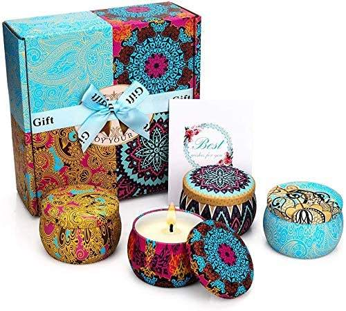 Christmas Gifts Candles for Home Women Aromatherapy Candle Sets for Home with Fragrance Soy Candles