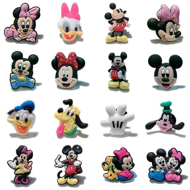 Lovely Mickey pvc shoe charms clog accessories Minnie shoe decoration for Kids croc charms Jibz gift for Croc shoes