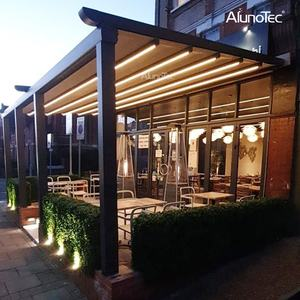 Motorized Waterproof Awnings PVC Pergola Patio Retractable Aluminum Outdoor Canopy
