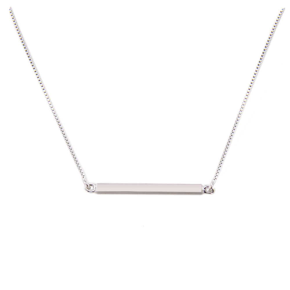 woman minimalist jewelry collar plata 925 minimalist necklace 925 sterling silver bar necklace silver choker