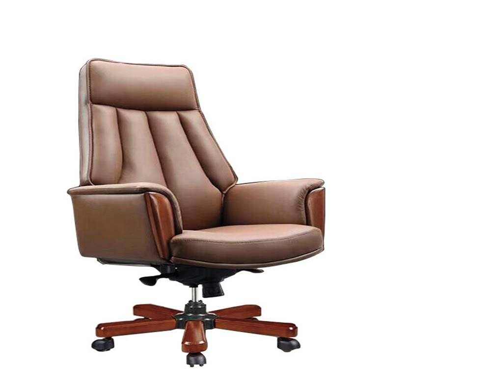 Guangzhou supplier antique dragon chair designed for leader,brown leather chair used in boss office