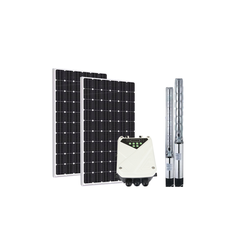 JNTECH DC solar power submersible water pump system With Mppt Controller